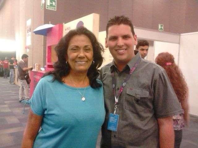 Alina Rodríguez de visita en México. Foto: cortesía de Alexis Boentes
