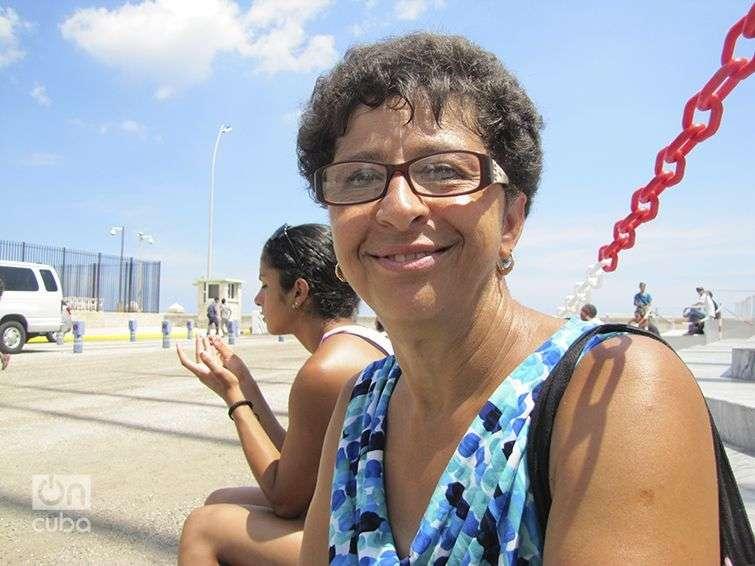 Eva  Clauso, Cubano-Americana de visita en Cuba