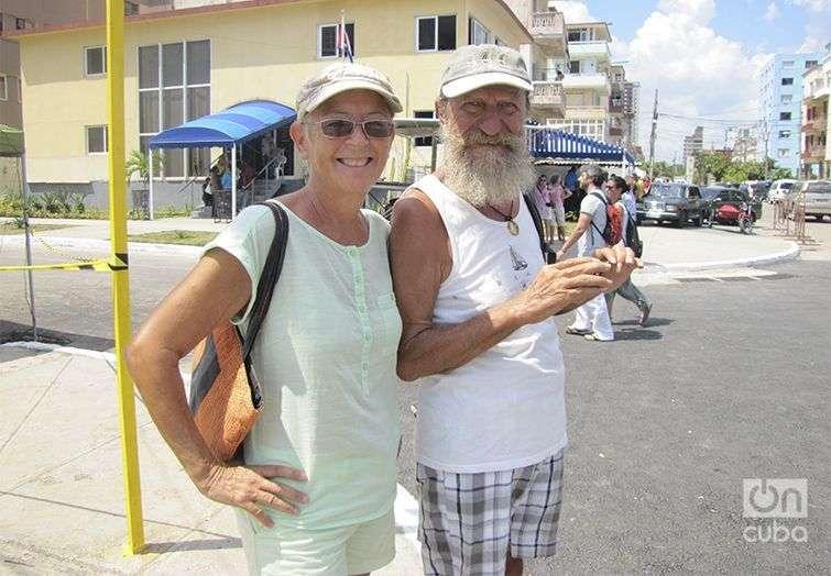 Joseph Fawad, australiano de visita en Cuba