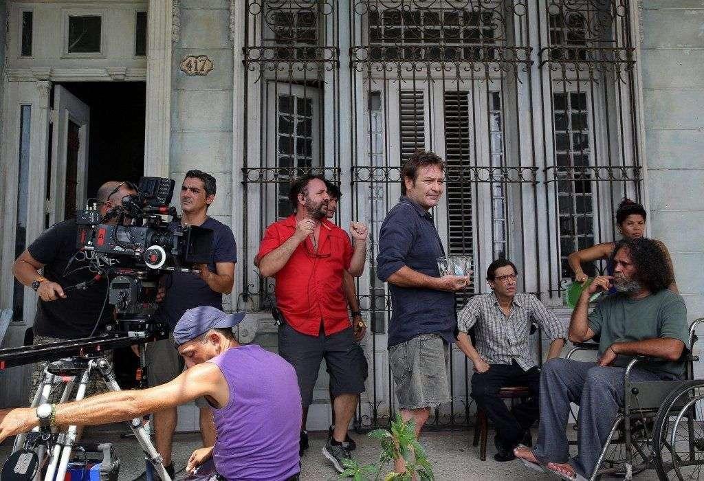 Filmación de la película Las Cuatro Estaciones. Foto: TVE
