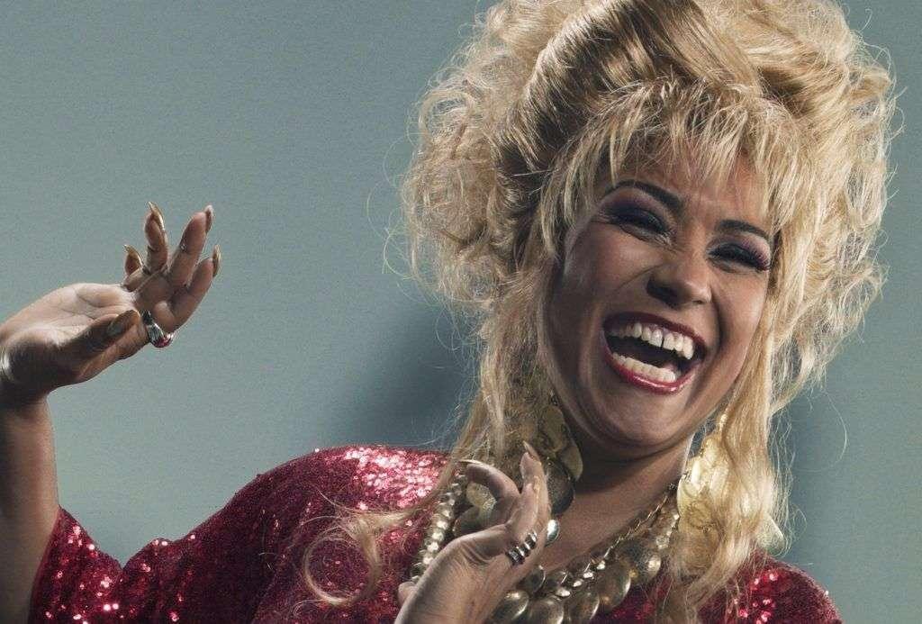 Ayme Nuviola interpreta a Celia Cruz. Foto: Telemundo