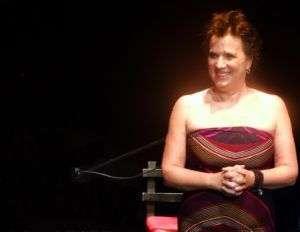 Eve Ensler durante su presentación en La Habana. Foto: Susana Hernández