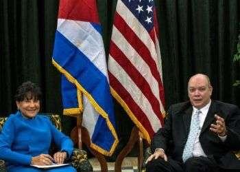 Penny Pritzker y Rodrigo Malmierca. Foto: NBC