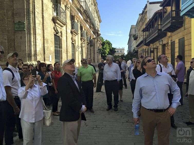 Empresarios estadounidenses visitan la Habana Vieja