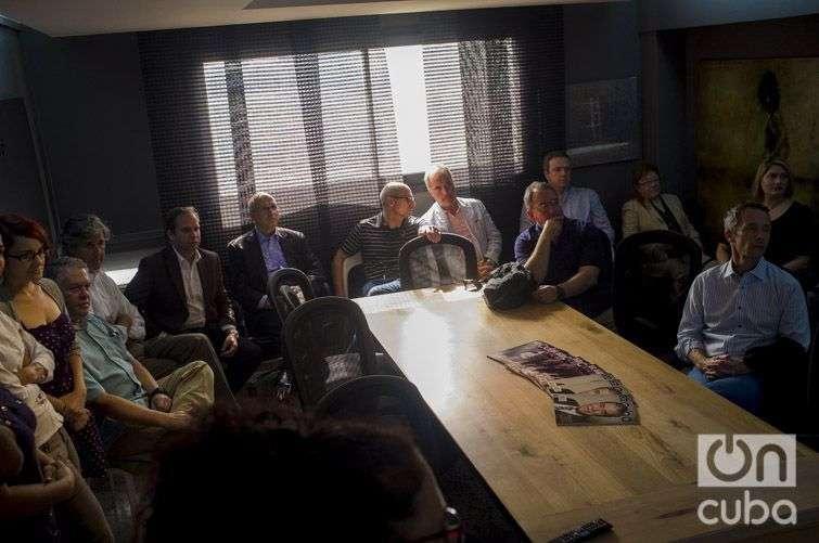 Empresarios estadounidenses en OnCuba / Foto: Alain L. Gutiérrez Almeida