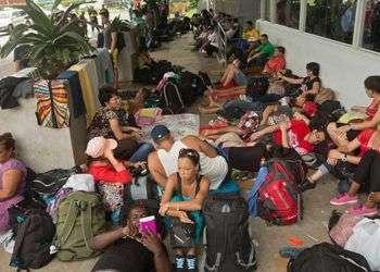 Emigrantes cubanos en Centroamérica durante la crisis migratoria de 2015. Foto: La Tribuna, de Honduras.