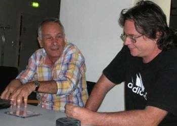 Daniel Díaz Torres y Eduardo del Llano. Foto: Cortesía del autor.