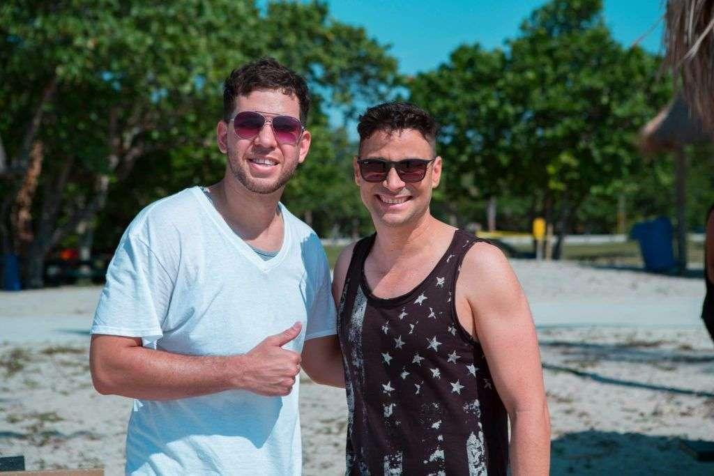 Nassiry Lugo con Jorge Blanco, su productor audiovisual. Foto tomada de su perfil de Facebook