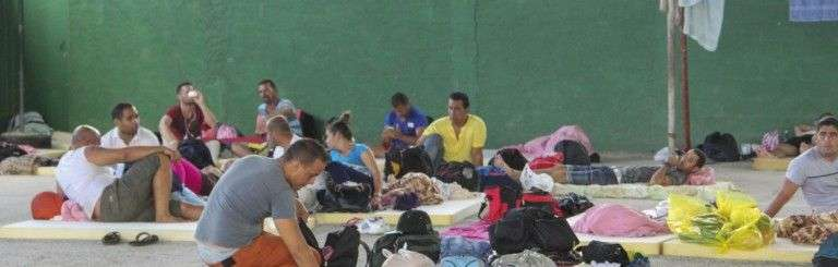 Migrantes cubanos en Costa Rica durante la crisis migratoria de finales de 2015. Foto: Presidencia de Costa Rica / Archivo.
