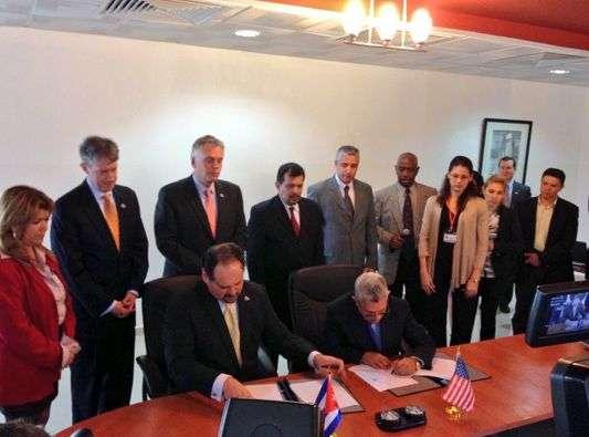 signature agreement cuba virginia port