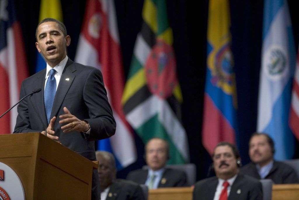 Obama en Trinidad y Tobago. Foto: JIM WATSON/AFP/Getty Images