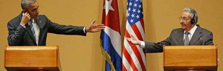 Barack Obama junto a Raúl Castro durante su visita a La Habana. Foto: Al Díaz / Miami Herald