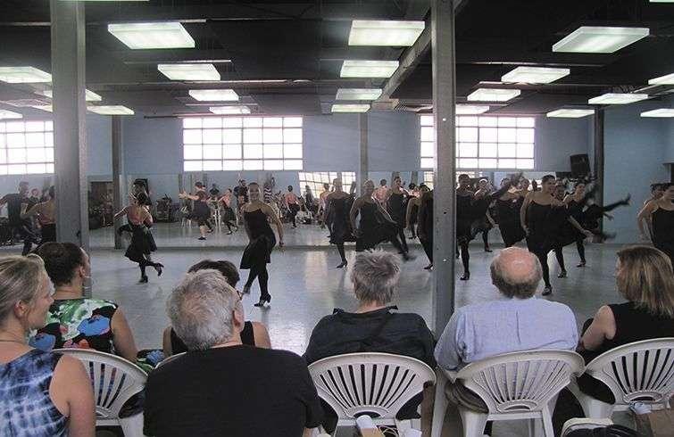 Ballet Lizt Alfonso Dance Cuba ofrece baila para miembros de la delegación cultural de Estados Unidos en Cuba. Foto: Lidia Hernández Tapia.