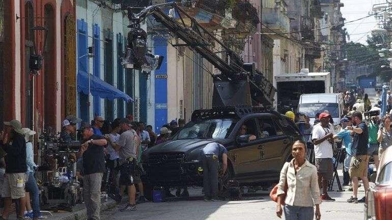 Filmación de Rápido y Furioso en La Habana. Foto: Reuters