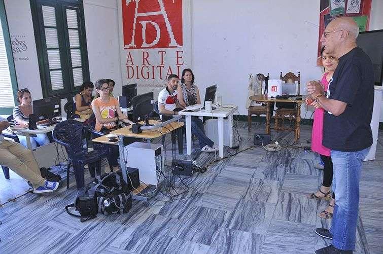 I Taller de Periodismo Radiofónico en el Centro Pablo / Foto: Cortesía del Centro Pablo