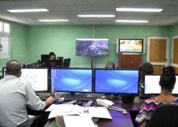 El Centro Nacional de Pronósticos de Cuba. Foto: Alberto Borrego/Granma