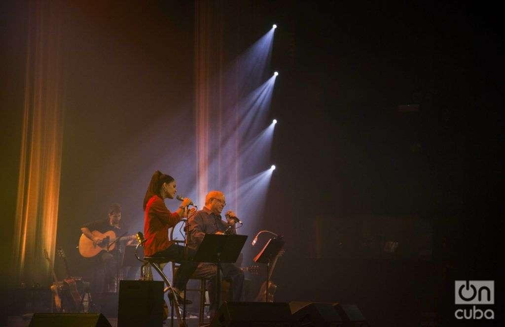 Amor, Haydée Milanés a dúo con Pablo Milanés. Teatro Karl Marx. Foto: Claudio Pelaez Sordo