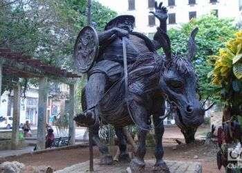EScultura de Sancho en la Habana Vieja Foto Reinaldo Cedeño