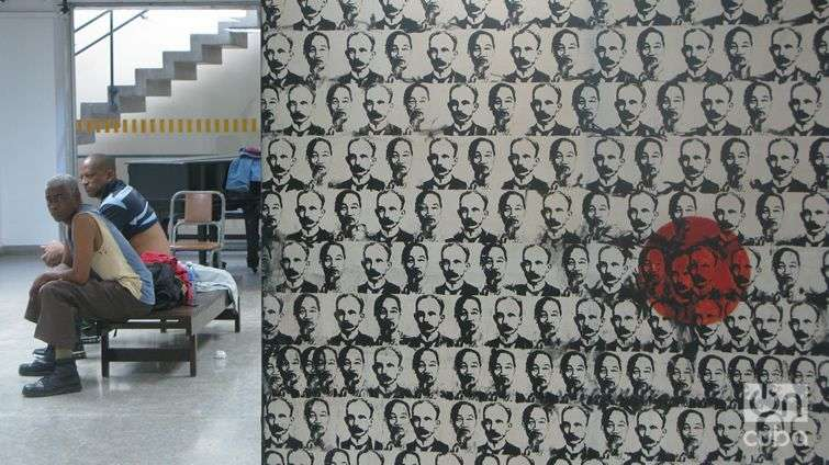 Varias reparaciones rompen la cotidaneidad de Galería L. Foto: Yoel Suárez.