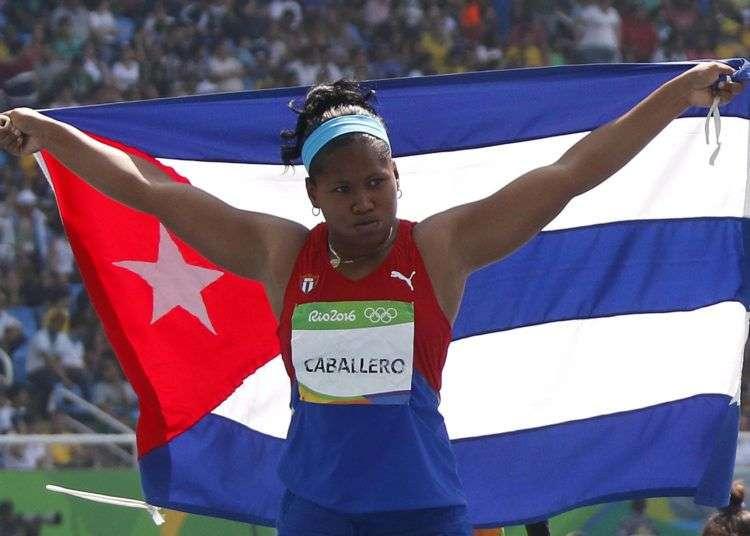 Denia Caballero luego de su bronce en Río 2016. Foto: Roberto Morejón / JIT.