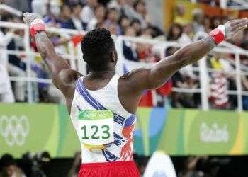 Manrique Larduet de Cuba, compite en el All Around de la gimnasia artística de los Juegos Olímpicos de Río de Janeiro. Foto: Roberto Morejón / JIT