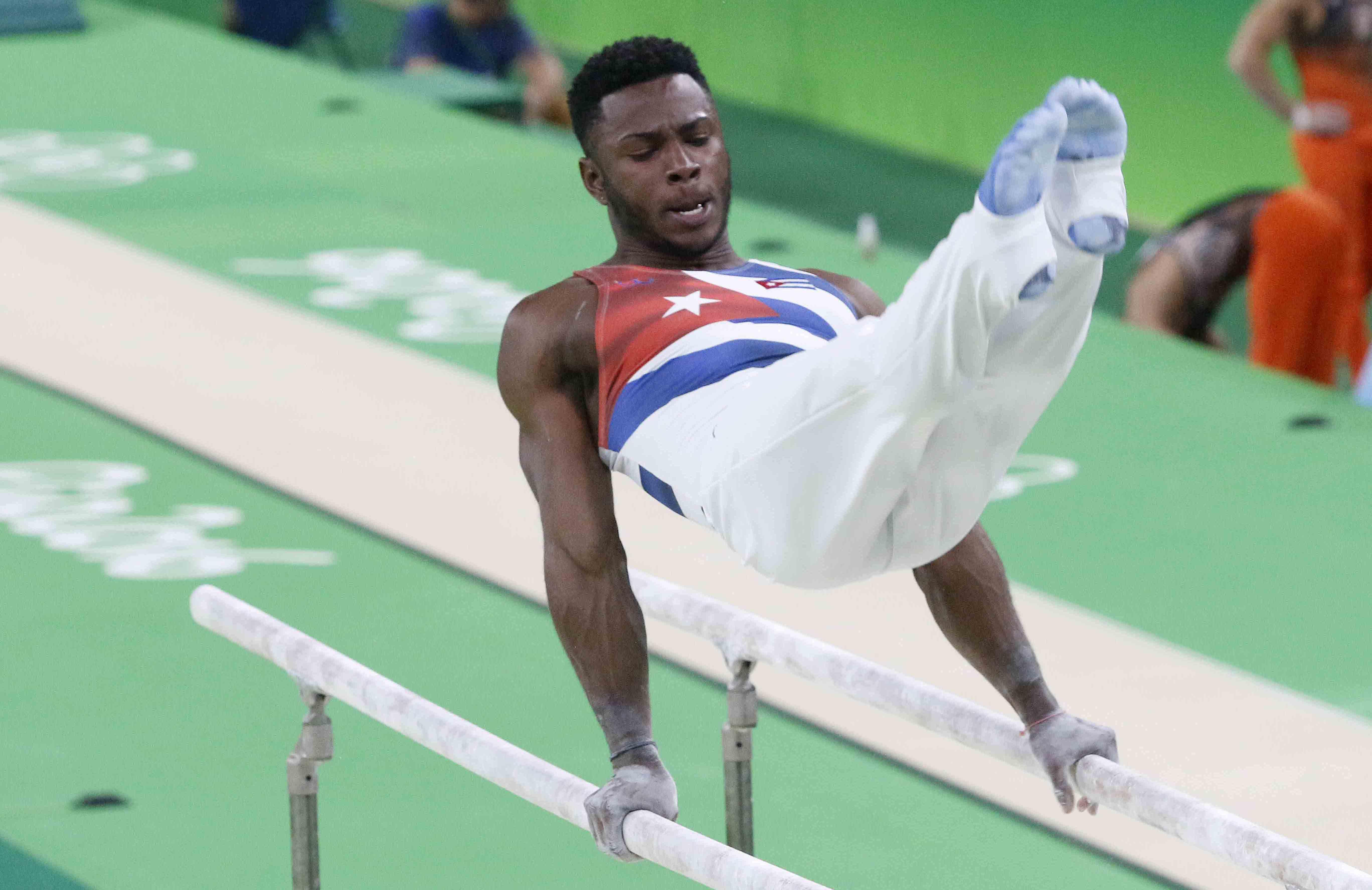 El gimnasta cubano Manrique Larduet durante los Juegos Olímpicos de Río 2016. Foto: Roberto Morejón / JIT / Archivo.