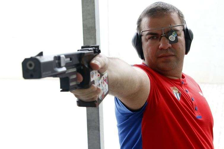 El tirador cubano Leuris Pupo, campeón olímpico en Londres 2012. Foto: Roberto Morejón / JIT / Archivo.