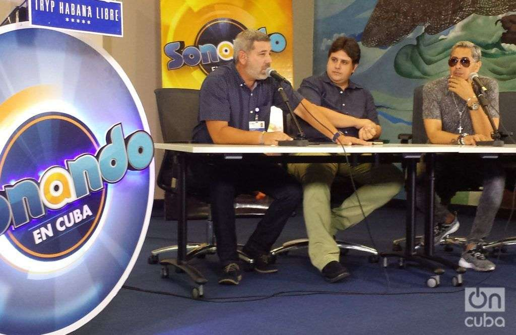 Conferencia de prensa en el Salón Solidaridad del hotel Habana Libre. Foto: Jorge Miranda.