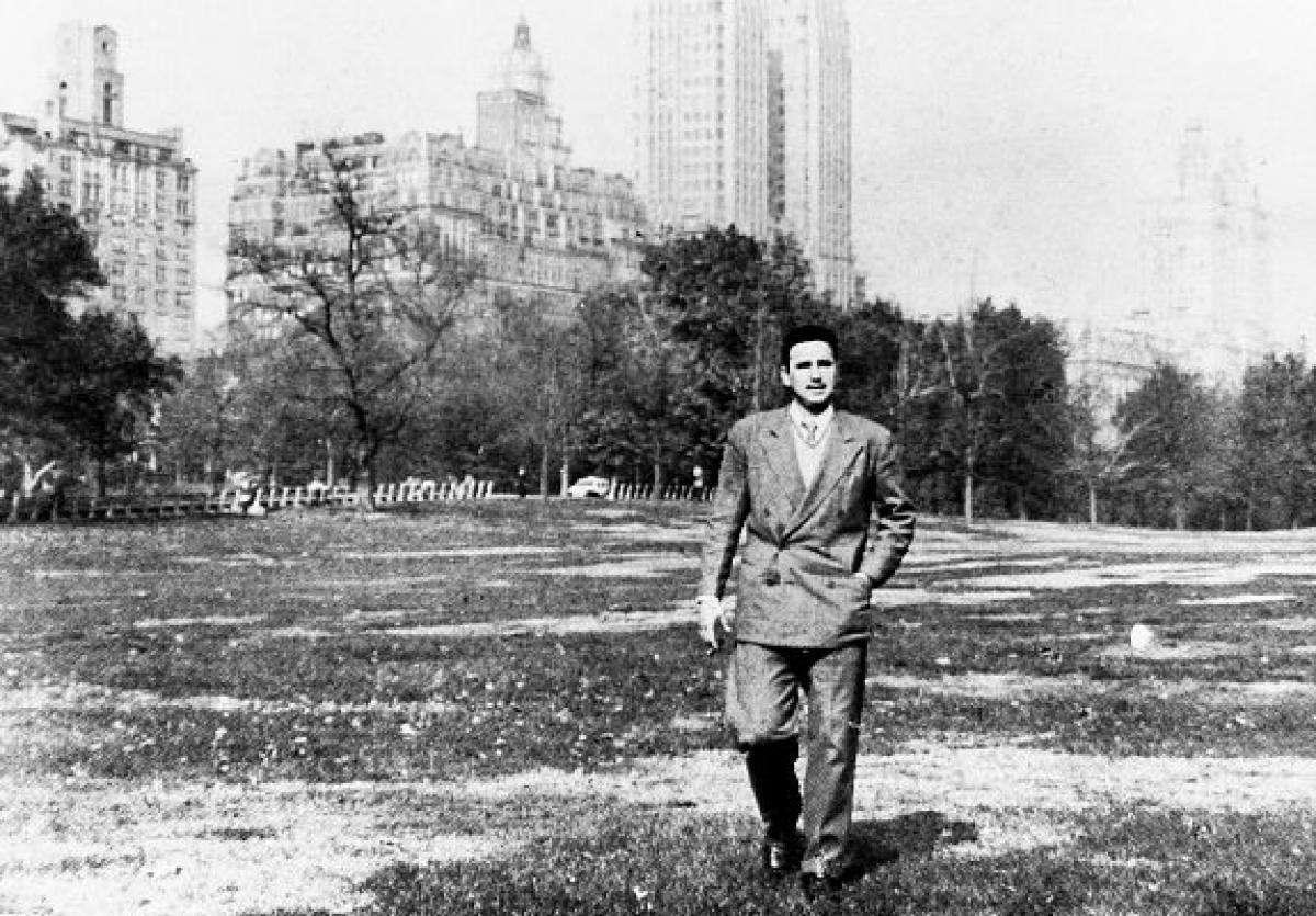 En el Central Park de Nueva York, en 1955.