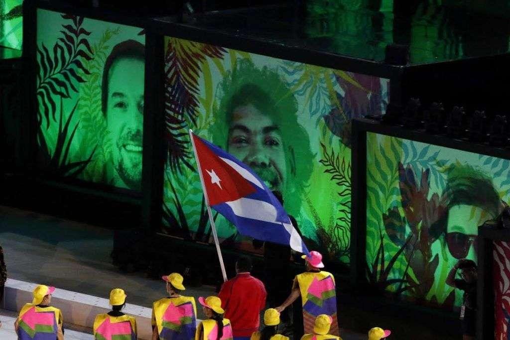 Entrada delegacion de Cuba durante la ceremonia de apertura de los Juegos Olímpicos de Río de Janeiro, en el estadio olímpico Maracaná, Brasil, el 5 de agosto de 2016. JIT FOTO/Roberto MOREJON