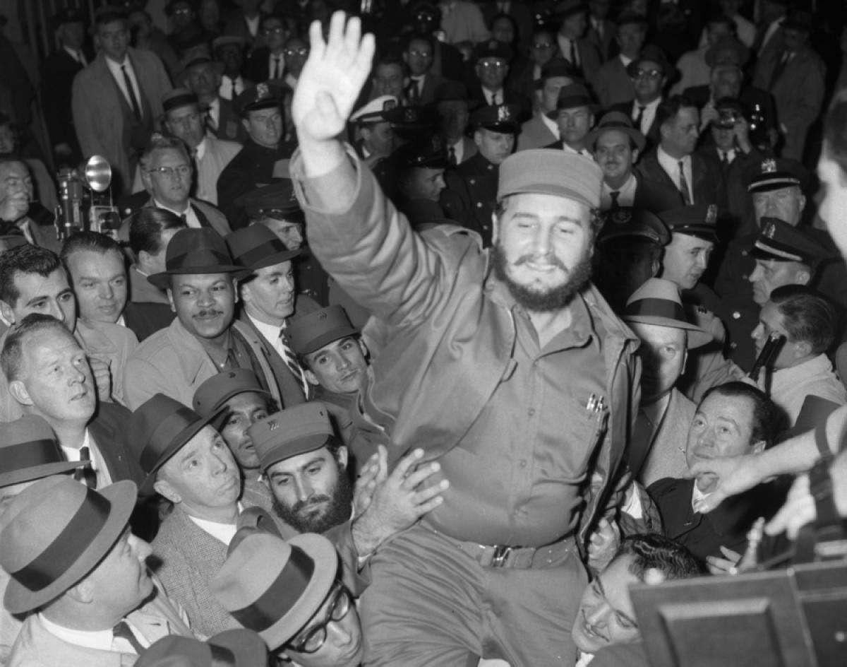 En Nueva York una multitud lo recibe. 21 de abril de 1959.