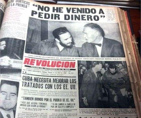 """""""No he venido a pedir dinero"""", le dijo Fidel Castro al Secretario de Estado."""