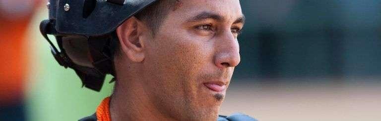 Ariel Pestano durante un juego de entrenamiento para el Clásico Mundial de Béisbol 2009. Foto: Chris Elise.