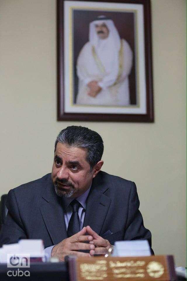Rashid Mairza Al-Mulla, embajador de Qatar en Cuba. Foto: Gabriel Guerra Bianchini.