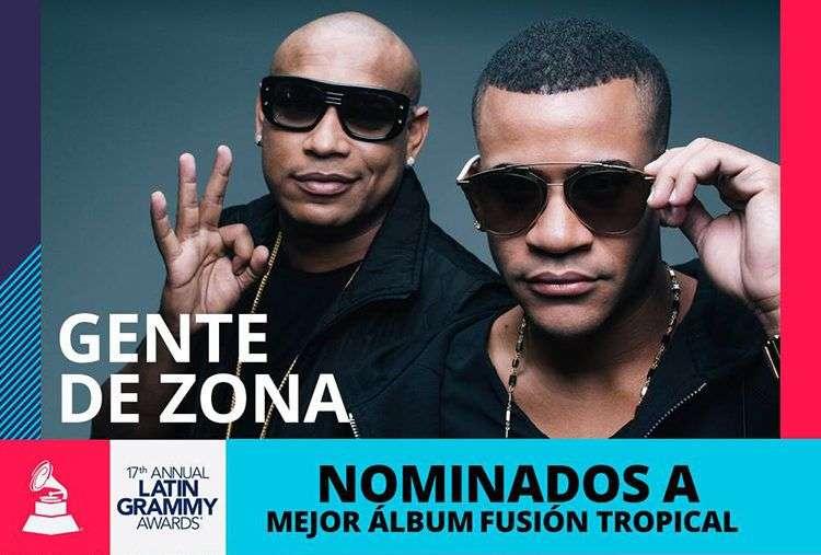 Gente D Zona, nominado al Grammy Latino 2016.