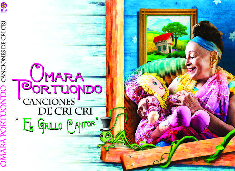 Omara Portuondo está nominada con Canciones de cri cri El grillo cantor.