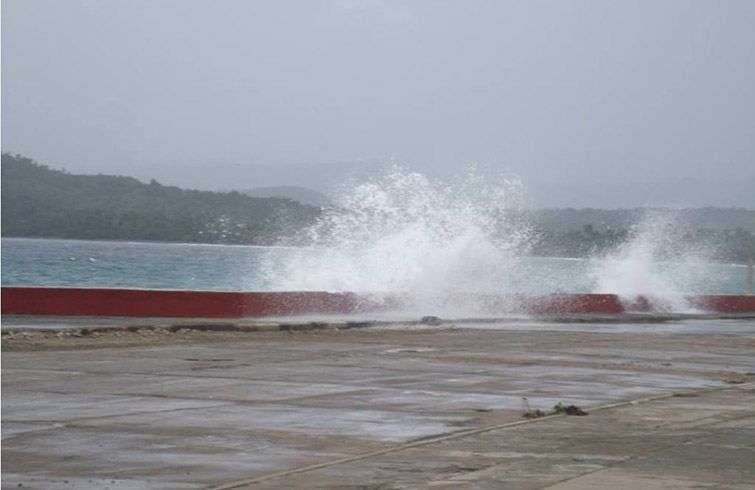 Foto de archivo de penetraciones del mar en Baracoa, Guantánamo. Foto: Radio Guantánamo / Facebook / Archivo.