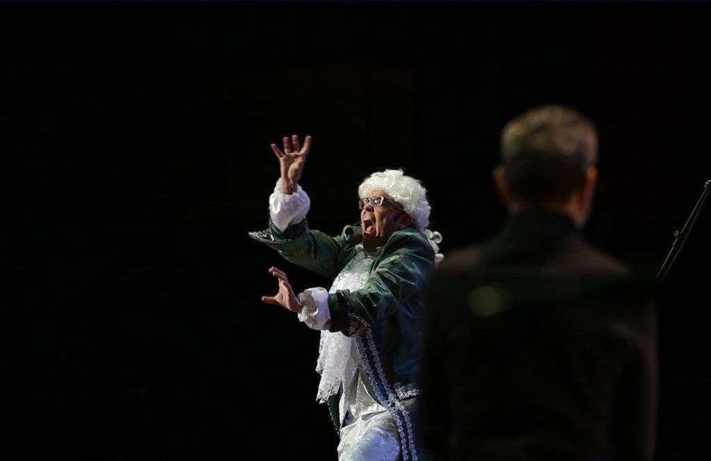 Rigoberto Ferrera en la apertura del Festival Contratenores del Mundo, organizado por la Oficina Leo Brouwer. Foto: Gabriel Guerra Bianchini.