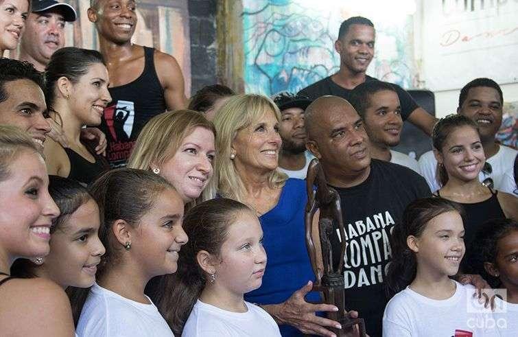 Jill Biden y la Compañía Habana Compás Dance. Foto: Ismario Rodríguez.