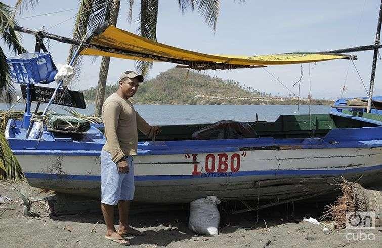 Franklin Aguirre Machado timonel de El Lobo. Foto: Denise Guerra