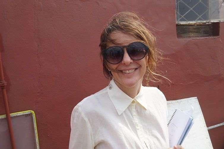 Patricia Ramos en una de la locaciones de azotea. Foto: Cortesía de la entrevistada.
