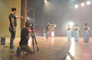 Rodaje del video promocional del filme La saga de Daniel, de Rolando Almirante. Foto: Yuris Nórido