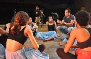 """Bailarines de la compañía Danza Contemporánea de Cuba participan en el filme """"La saga de Daniel"""". Foto: Yuris Nórido."""