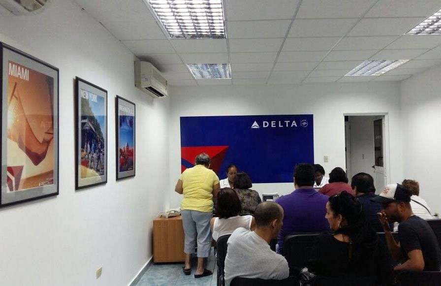 Delta Air Lines office in Havana. Photo courtesy of the interviewees.