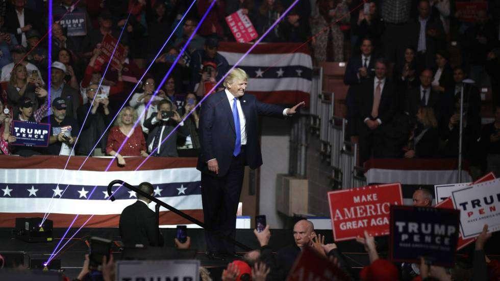 Donald Trump en Manchester, New Hampshire. Foto: Charles Krupa / AP.