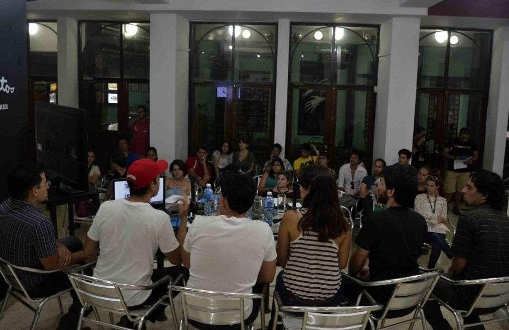 Presentación del Proyecto Encuadre en la Muestra Joven ICAIC 2016. Foto: Cortesía del entrevistado.