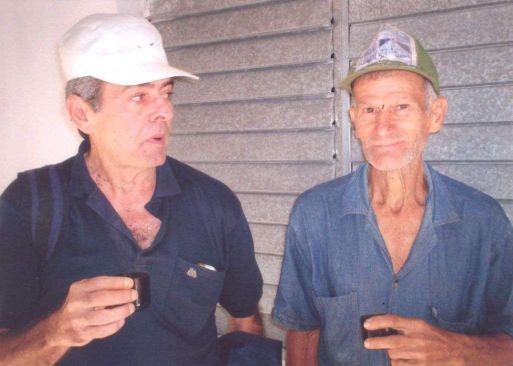 René Batista y el hombre que vio a Dios. Foto: Cortesía del autor.
