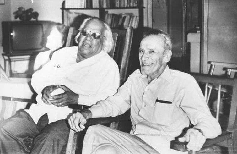 José Soler Puig (a la derecha) con Nicolás Guillén. Foto: Revista La Jiribilla