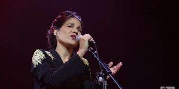 Haydée Milanés en concierto de fin de año. Teatro Nacional de Cuba. Foto: Ismario Rodríguez.
