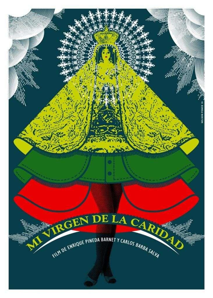 """Cartel de """"Mi virgen de la Caridad"""". Diseño Nelson Ponce."""
